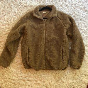 Brown Fuzzy Brandy Melville Jacket